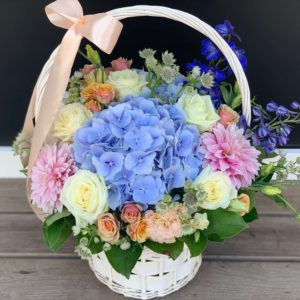 Pretty Flowers Basket